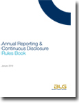 Annual Reporting Continuous Disclosure Rules Book 2018 Cover